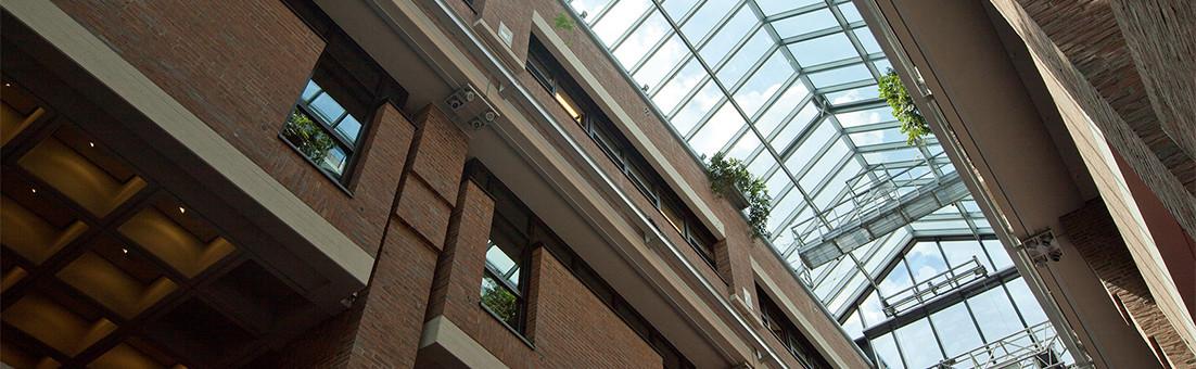 Construction d'une toiture en verre-aluminium, Centre culturel Gasteig à Munich