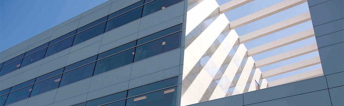 Façade en verre et panneaux en aluminium, CCB Innsbruck